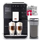 Melitta Machine à Café et Boissons Chaudes Automatiques avec récipient à lait, Commande par Smartphone avec application Connect, Fonction One Touch, Barista TS Smart, Noir, F850-102