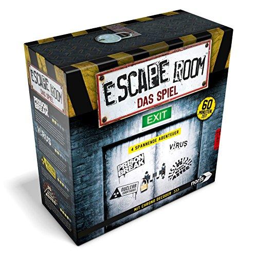 Noris 606101546 Escape Room das Spiel Inkl. 4 Fällen und Chrono Decoder