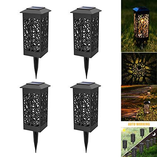 Solarleuchte Garten Solarlampe Gartenleuchte für draußen,Solar Laterne Wasserdicht IP44,Decorative Solarlamp für Außen Garten Rasen Patio Hof