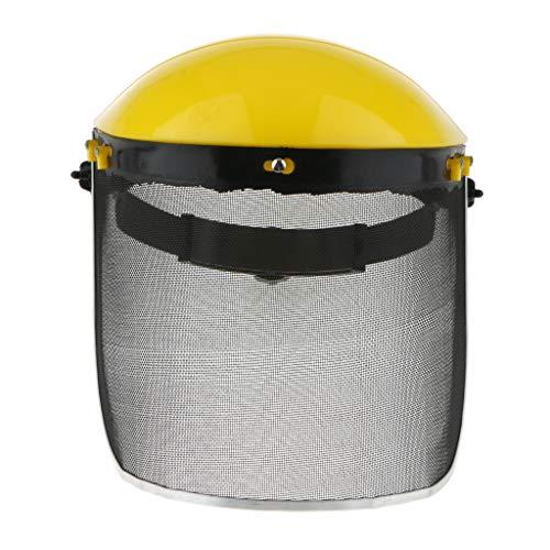 perfeclan Motosierra Forestal Desbrozadora Casco de Visera de Seguridad con Malla Metálica de Cara Completa