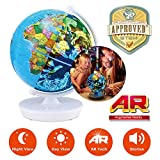 Oregon Scientific Smart Globe Myth SG102R – 2 in 1 Day and Night Globe with 3D Augmented Reality and Audio Stories | STEM Approved