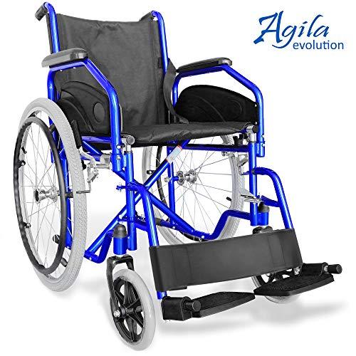 AIESI Sedia a rotelle pieghevole leggera ad autospinta - Carrozzina per disabili ed anziani AGILA...
