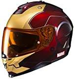 HJC Helmets Marvel IS-17 Unisex-Adult Full Face IRONMAN Street Motorcycle Helmet (Red/Yellow, Large) by HJC Helmets