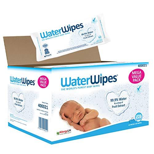 WaterWipes Salviettine Umidificate - 12 Confezioni da 60