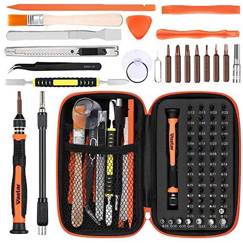 Vastar Set Cacciaviti, 66 in 1 Cacciavite di Precisione, Kit Cacciavite Compatibile per notebook,...