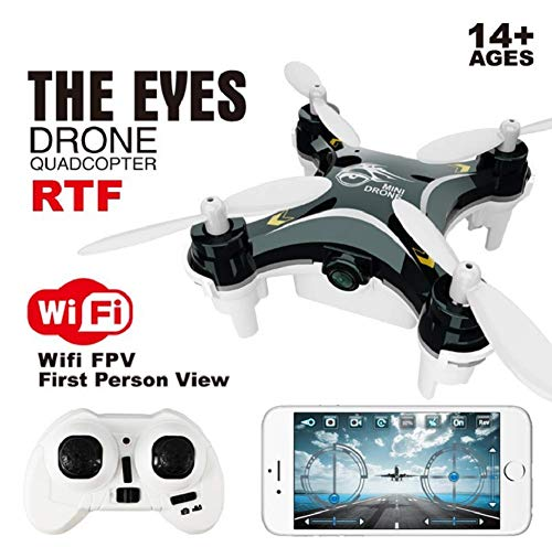 Mini Drone con WiFi FPV HD Camera LED Nano Quadcopter 2.4G 6-Axis Gyro Mobile App Controllo RC...