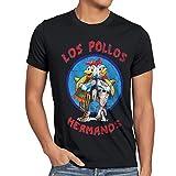 style3 Los Pollos T-Shirt da Uomo, Dimensione:XL;Colore:Nero