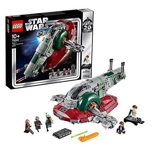 LEGO - Star Wars Esclavo I Edición 20 Aniversario, Juguete de Construcción de Nave Espacial de Boba Fett de la Guerra de las Galaxias, Incluye Minifigura de la Princesa Leia (75243)