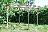 G&C Henley Holzpavillon – klassische viereckige Pergola aus Fichtenholz – druckimprägniert –...