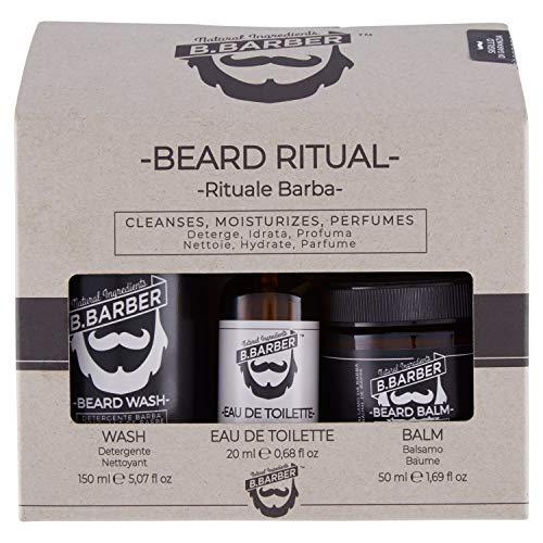 B.Barber Rituale Barba: Detergente, Eau de Toilette, Balsamo