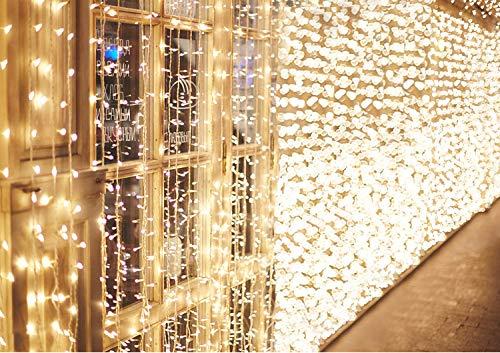 600 LED 6M x 3M IDESION Tenda Luminosa Natale Impermeabile IP44 Tenda Luci Natale 8 Modalità Tenda...