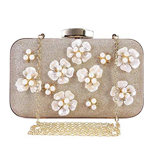 9c298f38cf138 PARADOX (LABEL) Womens Glitter Floral Rhinestone Beaded Evening Bags  Wedding Clutch Purse