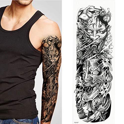 7pcs Grande tatuaggio braccio manicotti del tatuaggio del braccio Tattoo Rose Tattoo completa realistica