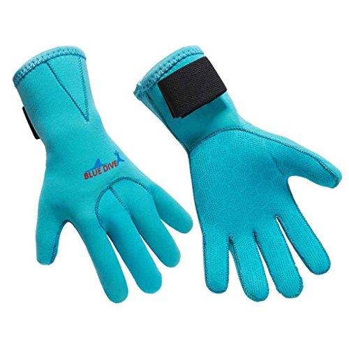Nowear Muta da Sub Guanti 3mm Diving Guanti in Neoprene a Prova di Skid Five Finger Glove Sport...