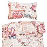 Vintage love - Ropa de cama para cuna, 100% Algodón (funda de edredón 120x150 cm y 1 funda de almohada 40x60 cm)