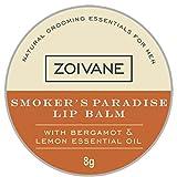 Zoivane Men's Natural Smoker's Paradise Lip Balm For DARK and SHINE- FREE LIPS - Lemon and Bergamot Essential Oil ,10g