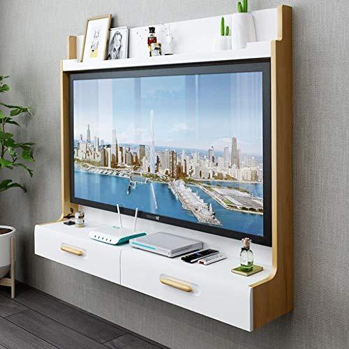 Mobile TV a Parete Router WiFi Set Top Box Cornice TV Mensola a Muro Scaffale Galleggiante Console...
