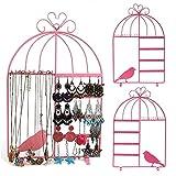 Taylor & Brown® a forma di gabbia con montaggio a parete, porta gioielli orecchini, collane, bracciali, gioielli titolari appeso organizzatore rack Tower