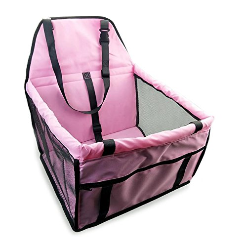 Pinkdose® Pink, 40X30X25Cm: Waterproof Pet Dog Carrier Folding Safe Pet Car Travel Accessories Carrying Bag Breathable Hammock Small Dogs Car Seat Cover Pad