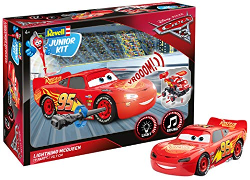 Revell Cars 3 Lightning MC Queen Junior Kit Luci/Suoni RC, Colore Rosso, RV00860