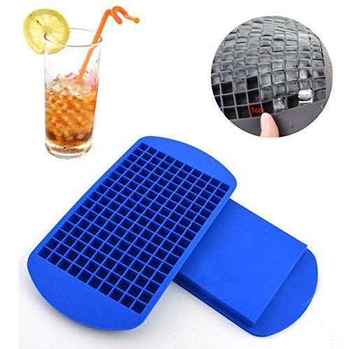 Styleys 160 Small Ice Maker Tiny Ice Cube Trays Chocolate Mold Mould Maker for Kitchen Bar Party Drinks (160 Square)