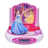 Princesas Disney - Radio despertador con proyector, color rosa (Lexibook RP510DP)