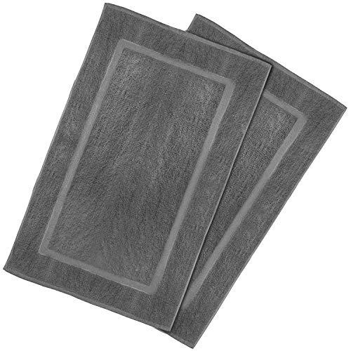 Utopia Towels - Tappetino per il bagno - Lavabili in lavatrice (53x86 cm, Grigio)
