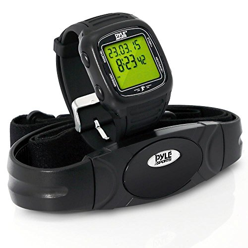 Pyle PHRM76BK Multi-Function Speed and Distance Digital Wrist Watch/Pedometer/Calorie Counter Heart Rate Monitor