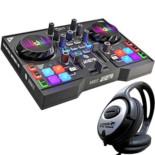Hercules djcontrol Instinct P8USB controlador DJ + Auriculares Keepdrum