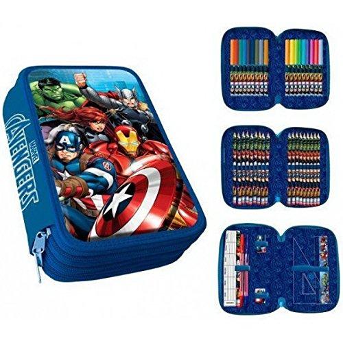 Los Vengadores Avengers-Astuccio 3Zip Avengers PVC Patch + Clamshell, Colore: 0, ast1775