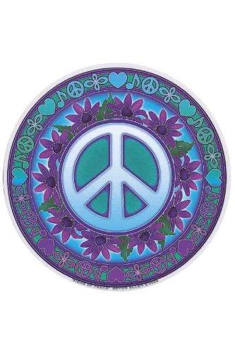 Símbolo de la Paz - Mandala Art cara dos círculo ventana adhesivo