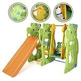 Baby Vivo Schaukel Rutsche Park für Kinder Kinder gerade Folie innen und Außenbereich Spielzeug Garten-Jungle