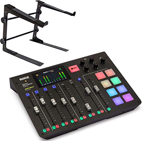 Rode RodeCaster Pro All-in-One Podcast Station + keepdrum - Supporto per portatile