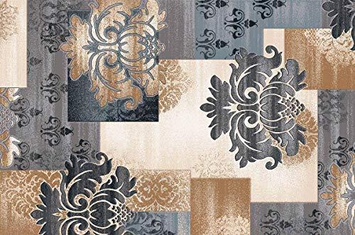 BuyElegant, tappeto antiscivolo in stile moderno, realizzato in 100% poliestere e lattice, retro...