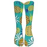 Doormat-bag Pineapple Green Pattern Sports Long Socks