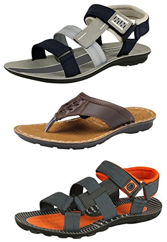 Tempo Men's Combo Pack of Casual Sandals & Slippers-9