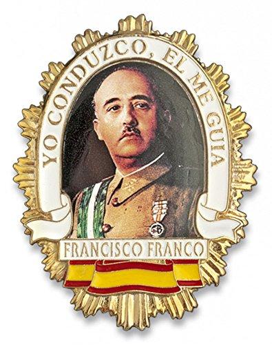 Outletdelocio. Placa metalica Francisco Franco. Especial para cartera de bolsillo