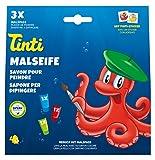 Tinti 520108 - Jabón para Pintar (3 Unidades), Color Verde, Rojo y Azul
