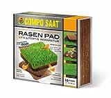 COMPO SAAT Rasen Pad®, innovative Rasenreparatur - auslegen, gießen, fertig! 10 Pads