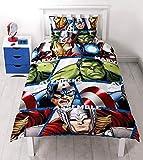 Character World Marvel Avengers Shield - Juego de Ropa de Cama Individual