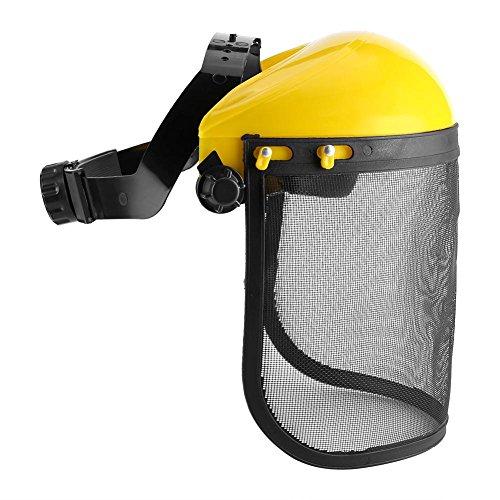 Neufday-Casco de Seguridad Sombrero con Visera de Malla de Cara Completa para tala Desbrozadora Protección Forestal