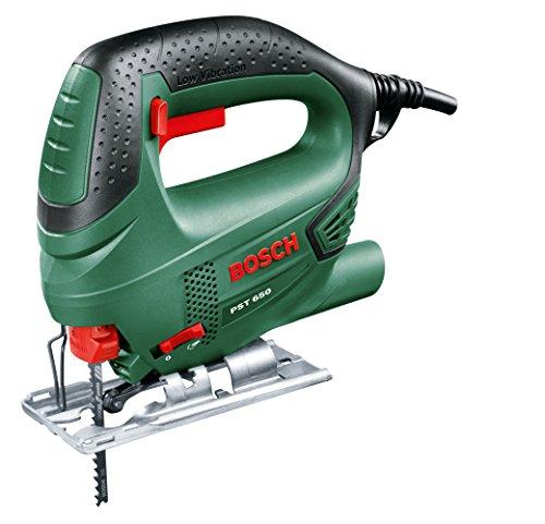 Bosch 0.603.3A0.700 Sierra de calar con maletín 240 V, Negro/Verde 500 W