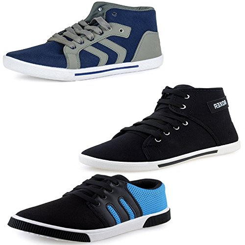 Fu-Zone Men's Combo Of 3 Casual Shoes-8