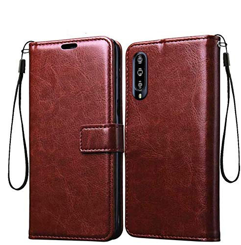 Pikkme MI A3 Flip Cover Case | Leather Finish | Inside TPU with Card Holder | Wallet Stand | Shock Proof | Magnetic Closure | 360 Degree Complete Protection Flip Cover for Xiaomi Mi A3