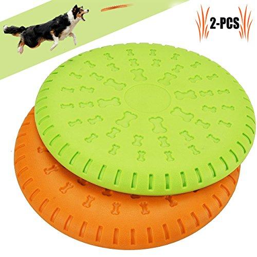 Legendog Disco Perro, 2 Pcs Durable Perro Flying Disco Material ABS Juguetes para Perros Juguetes de Entrenamiento para Perros(Compáralo para Masticar, Entrenamiento Perfecto)