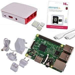 51 xBwTTDcL - Melopero Raspberry Pi 3 Official Starter Kit White, con Cargador Oficial, Caja Oficial, microSD Oficial de 16GB con Noobs, Cable HDMI y disipadores