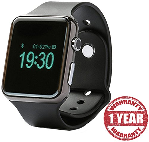 Apple iPhone 7 Plus Compatible Certified Bluetooth Smart Watch S31 Wrist Watch Phone with Camera & SIM Card Support (Black)