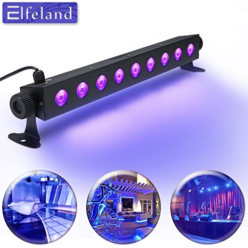 Luce UV LED,Elfeland 3Wx9LED Luci Discoteca LED AC100-240V Barra Led UV Effetto Luce per Festa...
