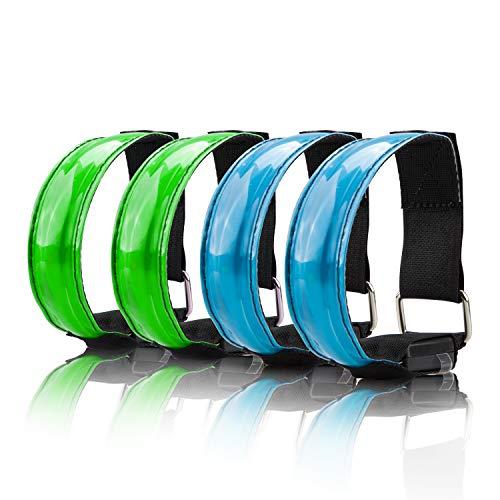 COASTAR, Fasce da Braccio Riflettenti con LED ad Alta visibilità, Cintura di Sicurezza per...