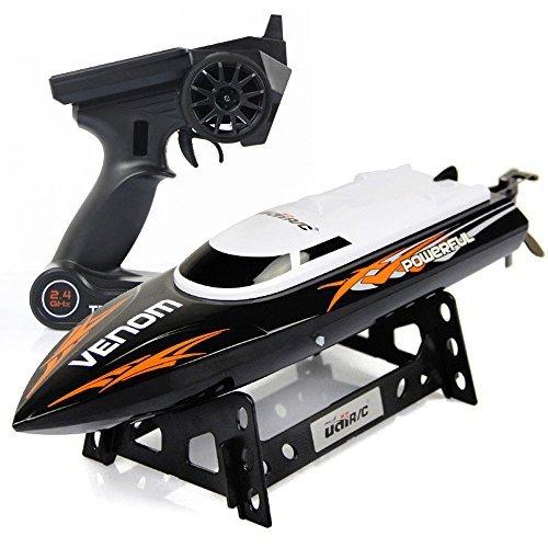 Udirc Venom 2.4GHz High Speed Remote Control Electric Boat (Black)